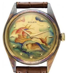 The Unique Rolex Cloisonné Enamel Dial to be auctioned at Christie's LOT 207.
