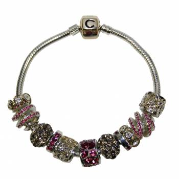 Win a Chamilia Sterling Silver Bracelet with 14ct Gold Snap Fastening and 11 Charms worth £985