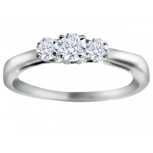 Canadian Ice 18ct White Gold 33pts 3 Stone Diamond Ring