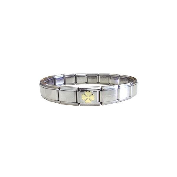 Nomination Bracelet Charms: Nomination Bracelet With Clover Charm