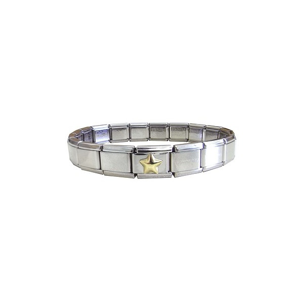 Nomination Bracelet Charms: Nomination Classic Bracelet With Raised Star Charm