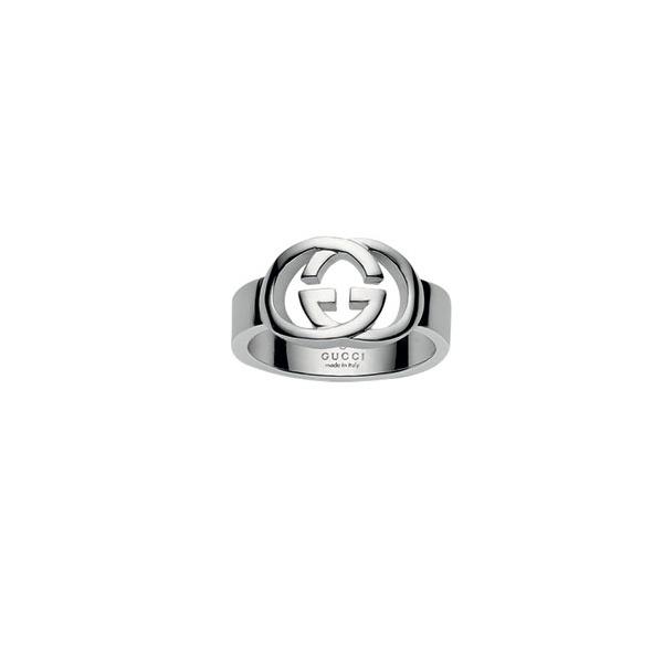 15b7e119ac2 Womens Silver Gucci Britt Ring YBC190483001