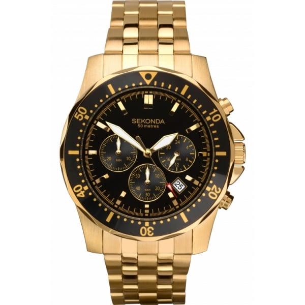 sekonda mens gold chronograph 1001 27 sekonda from