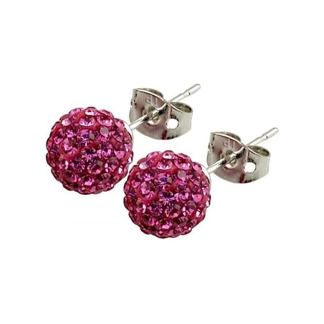 Tresor Paris Proussy' Pink Crystal Earring - 016007