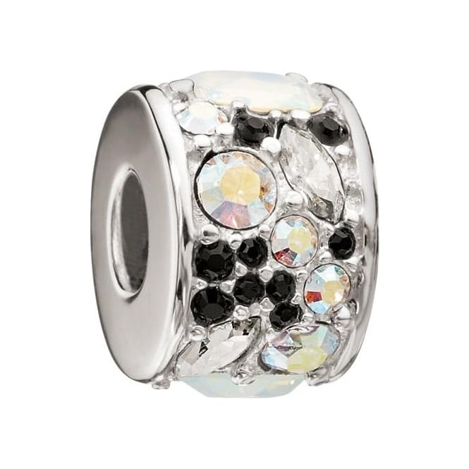 Chamilia Mosaic Black and White Swarovski Charm 2025-0795