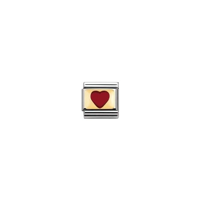 Nomination Classic Gold Red Heart Charm - 03020721