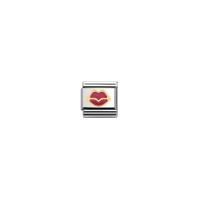 Nomination Classic Gold Fuchsia Lips Charm - 03020931