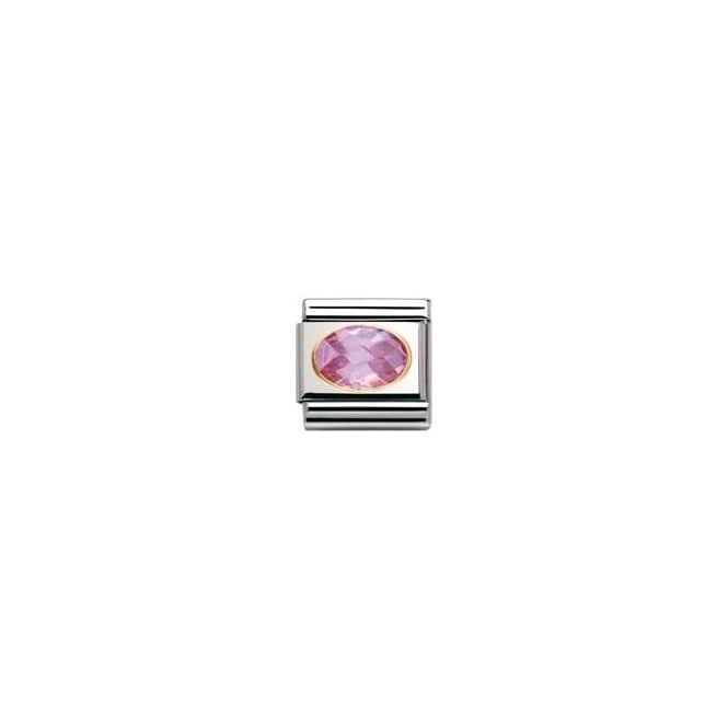 Nomination Classic Gold Pink Facet Charm - 030601003