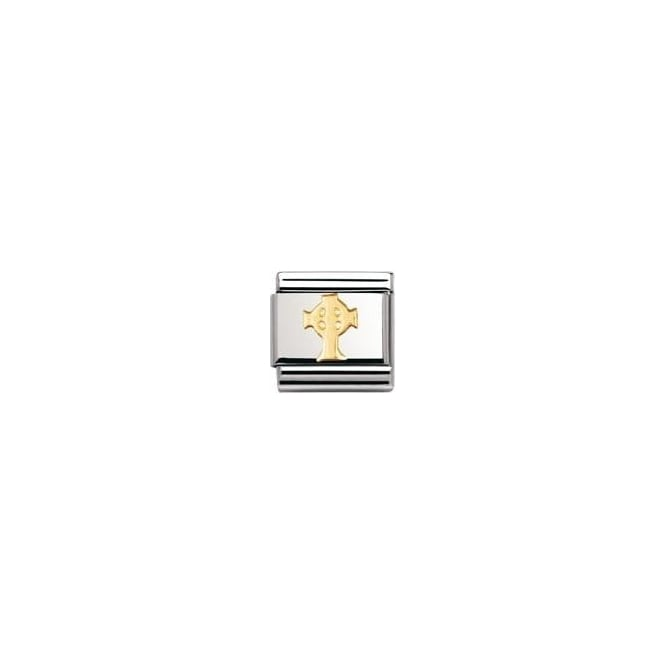Nomination Classic Gold Celtic Cross Charm - 03011901