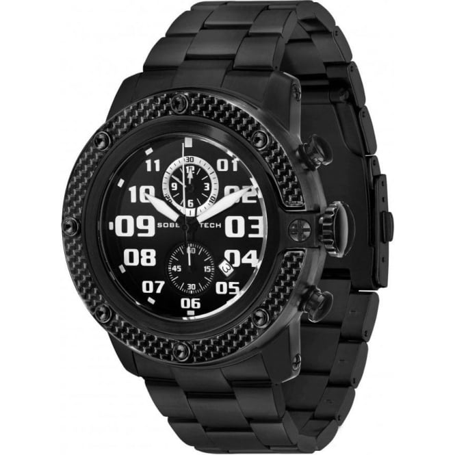 Ladies black chronograph watch GR33111
