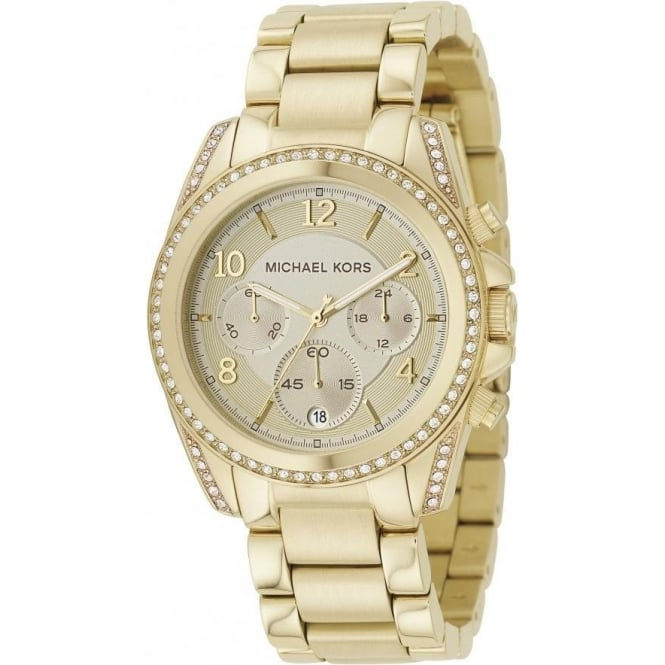 Michael Kors Ladies Gold Blair Chronograph Watch MK5166