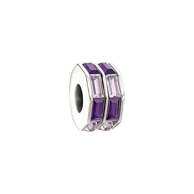Chamilia Double Baguette Purple Charm 2083-0402