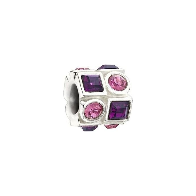 Chamilia Circle & Square Pink & Purple Charm 2083-0404