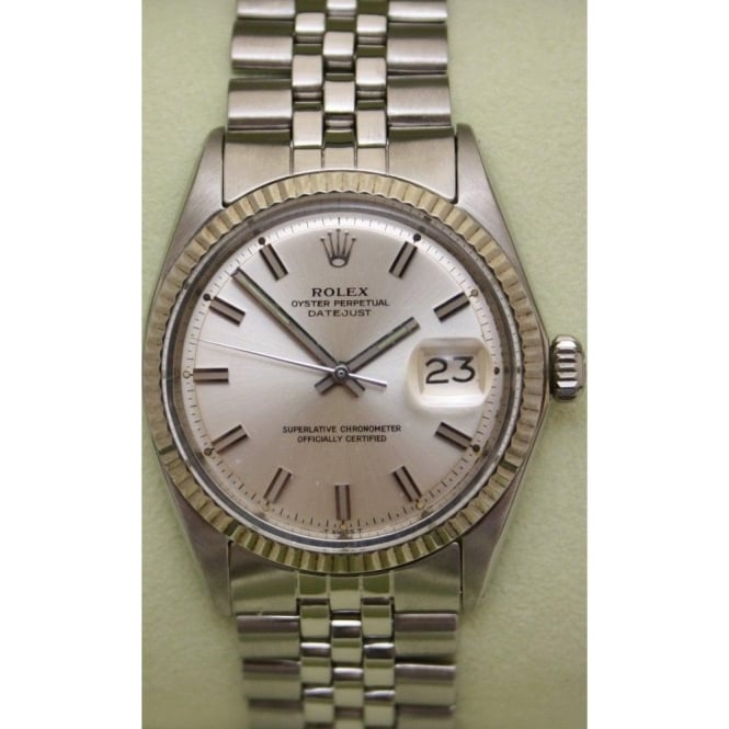 Mens Stainless Steel Oyster Perpetual Datejust On A Jubilee Bracelet 1601