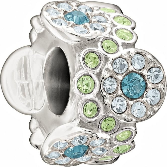 Chamilia The Swarovski Collection Daisy Bouquet Green & Blue Charm 2083-0457