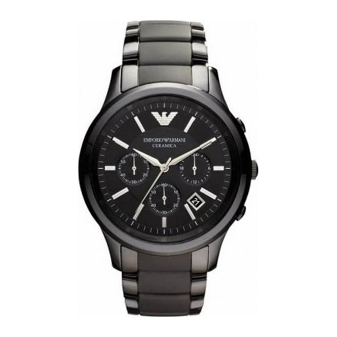 Emporio Armani Mens Renato Cermaica Ceramic Chronograph Watch AR1452