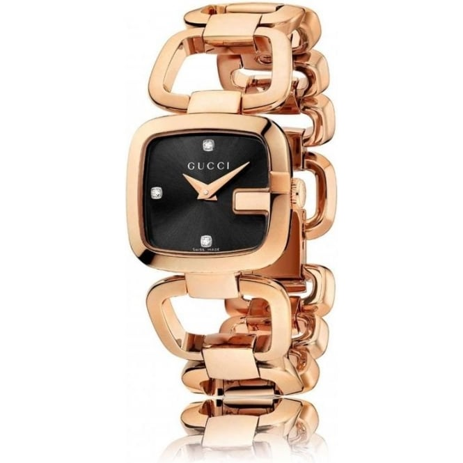 Gucci Timepieces Womens G-Gucci Rose Gold Watch YA125512