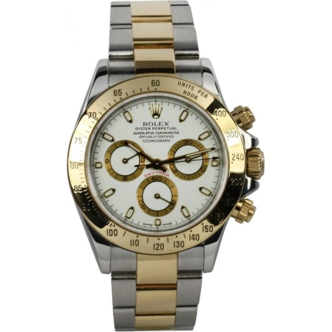 d680dffe19ff1 Mens Pre-Owned Rolex Steel   Yellow Gold Cosmograph Daytona 116523 ...