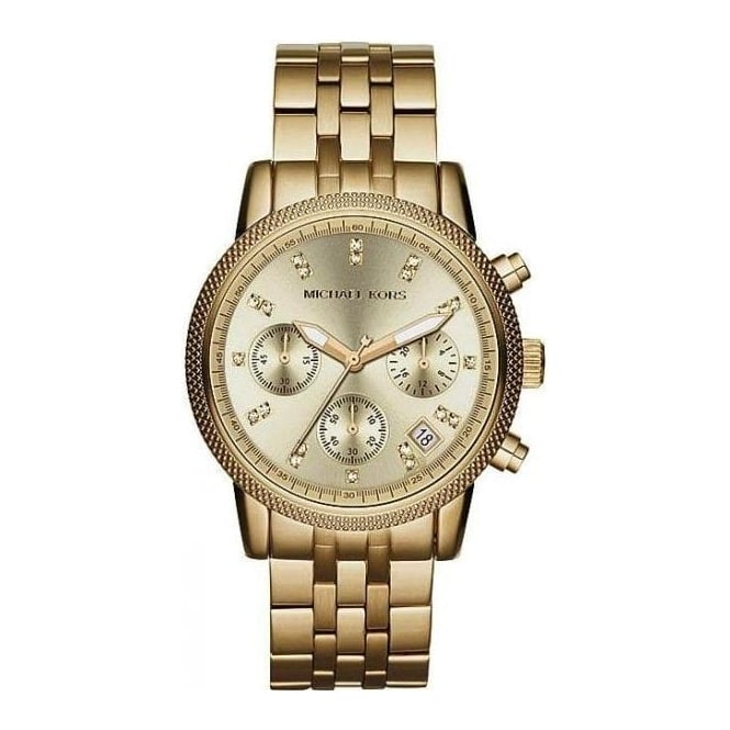 Michael Kors Ladies Gold Ritz Chronograph Watch MK5676
