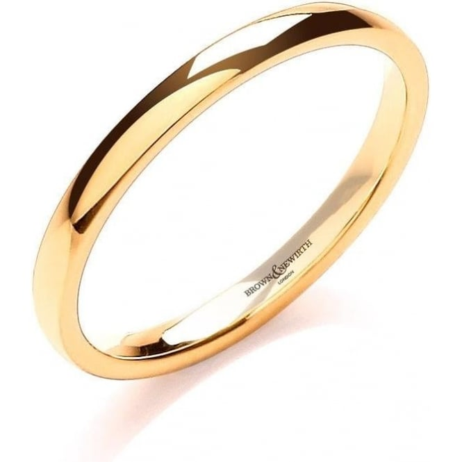 Brown & Newirth Catalogue 18ct Yellow Gold 3mm Wedding Ring