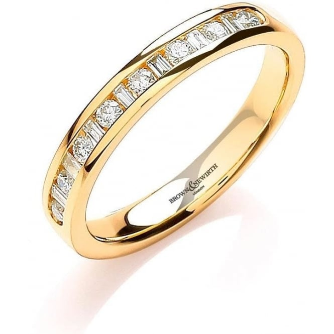 Brown & Newirth Catalogue Ladies 9ct Yellow Gold 3mm Diamond Ring