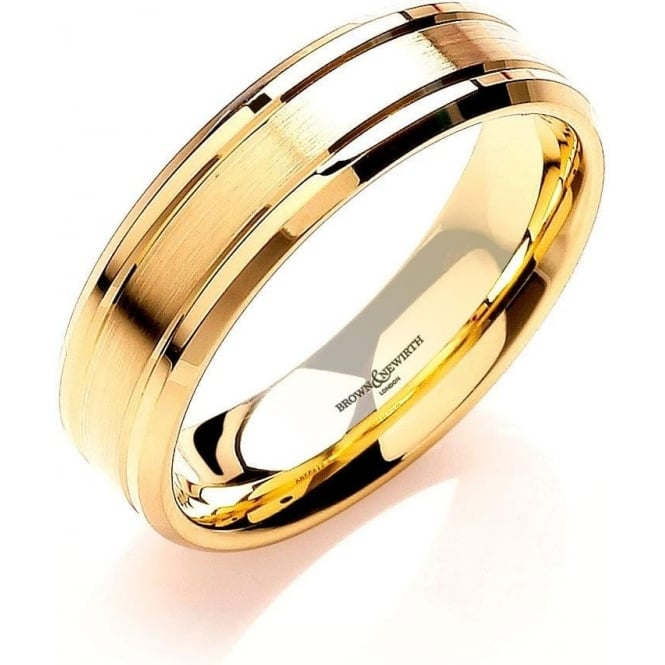 Brown & Newirth Catalogue Mens 18ct Yellow Gold 6mm Wedding Ring