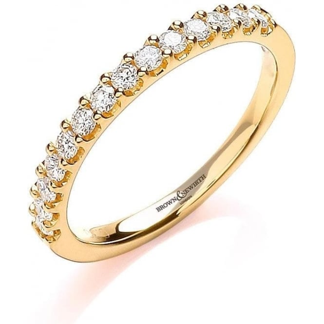 Brown & Newirth Catalogue Ladies 9ct Yellow Gold Diamond Ring