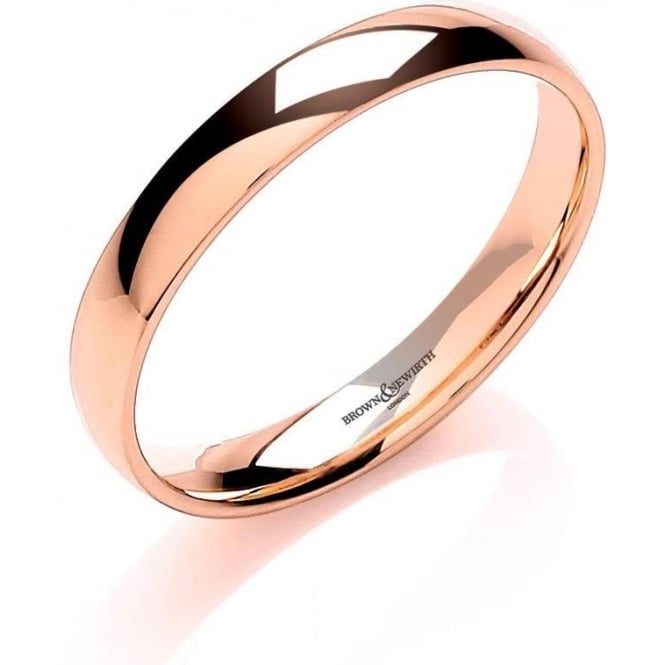 Brown & Newirth Catalogue 18ct Rose Gold 2mm Wedding Ring