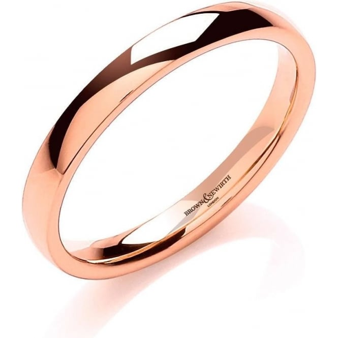 Brown & Newirth Catalogue 18ct Rose Gold 2.5mm Wedding Ring