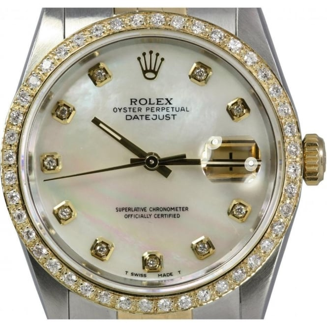 2afd004280f18 Men  039 s Oyster Perpetual DateJust With Custom Diamond set Bezel and Dial  Watch