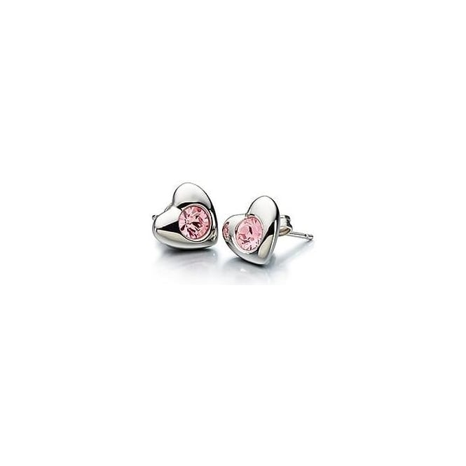 Chamilia Radiant Heart Earrings Pink Swarovski - 1310-0009