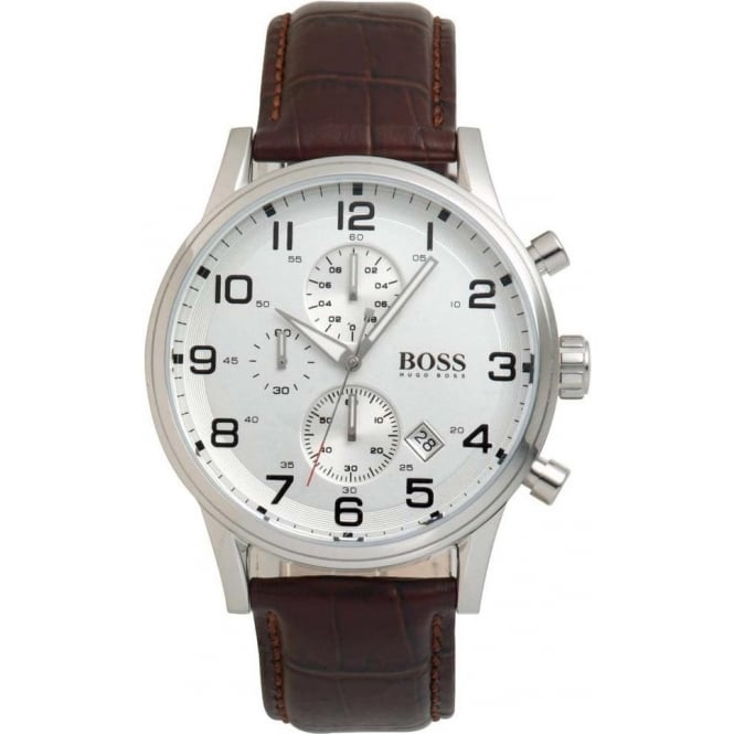 Hugo Boss Mens Leather Watch 1512447