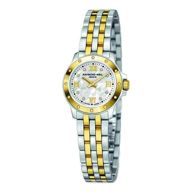 raymond weil 18ct yellow gold plated and stainless