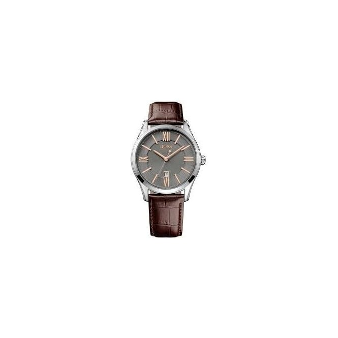 Hugo Boss Mens Brown Leather Strapped Watch 1513041