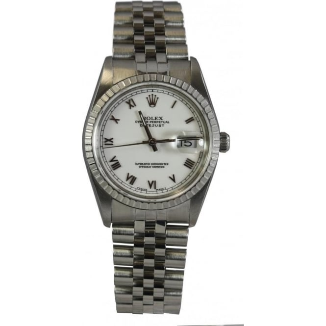 Pre-Owned Rolex Men's Date Just Watch. 16220
