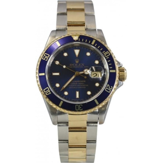 Pre-Owned Rolex Men's Steel and Yellow Gold Submariner Watch. 16613
