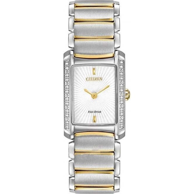 Citizen Ladies Diamond Set Eco-Drive Watch EG2964-56A