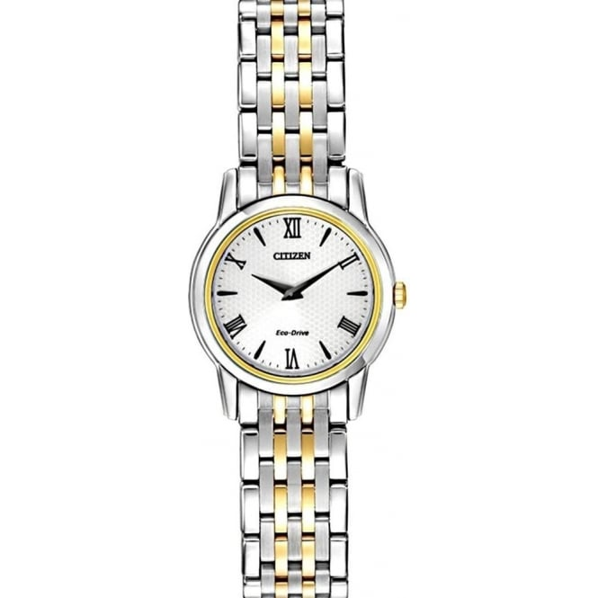 Citizen Ladies Two Tone Stiletto Watch EG3048-58A
