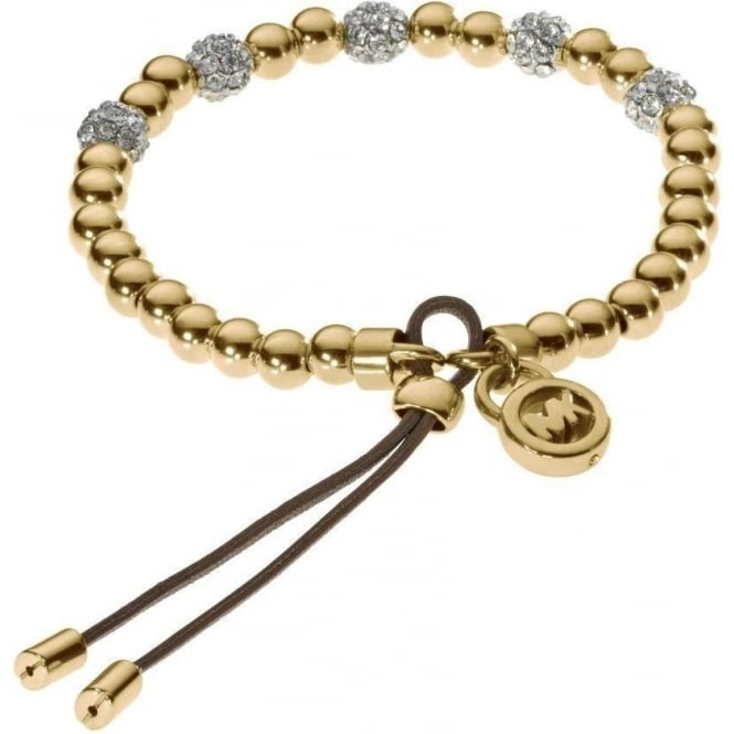 Michael Kors Jewellery Yellow Gold Tone Stretch Bracelet - MKJ1971710