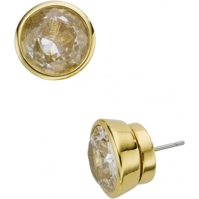 Michael Kors Jewellery Gold Crystal Stud Earrings