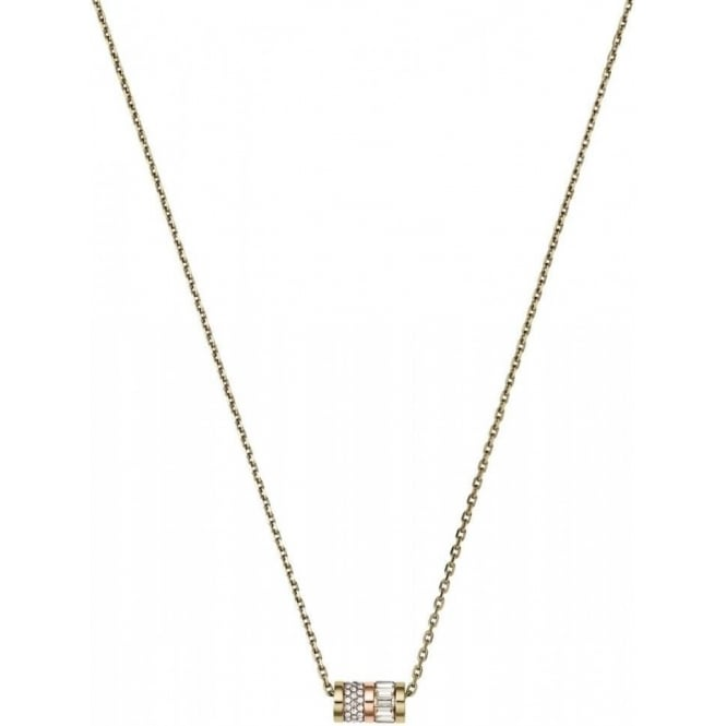 Michael Kors Jewellery Yellow Gold Tone Crystal Necklace
