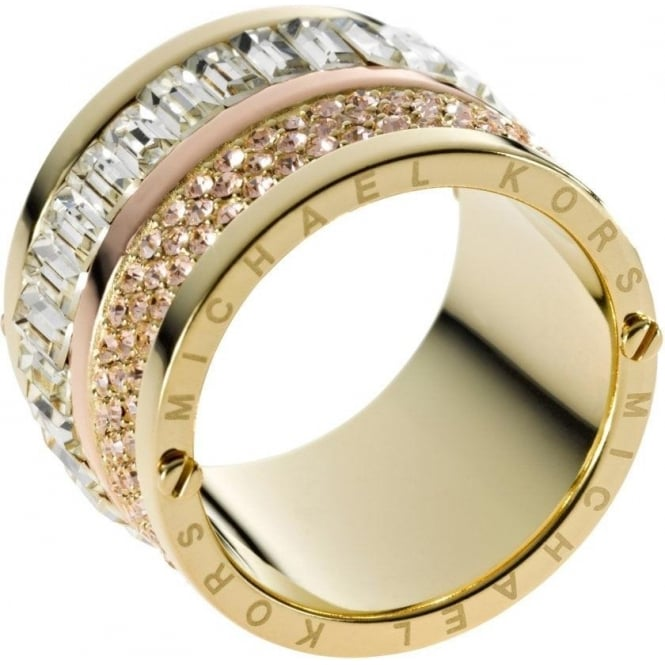 Michael Kors Jewellery Pave Barrel Ring