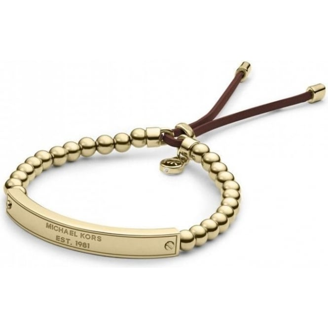 Michael Kors Jewellery Gold Plaque Stretch Bracelet