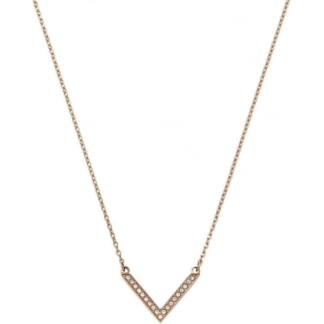 Michael Kors Jewellery Rose Gold Arrow Necklace