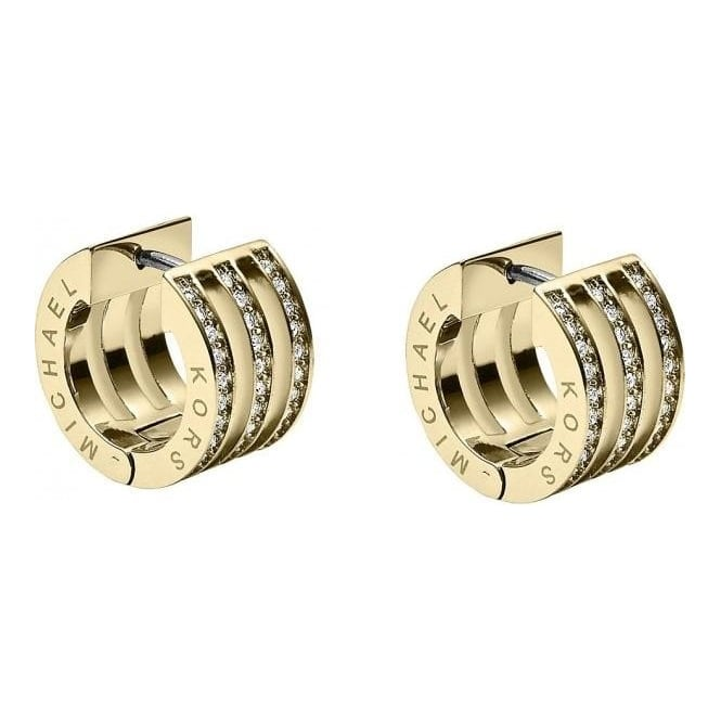 Michael Kors Jewellery Pave Bar Huggie Earrings