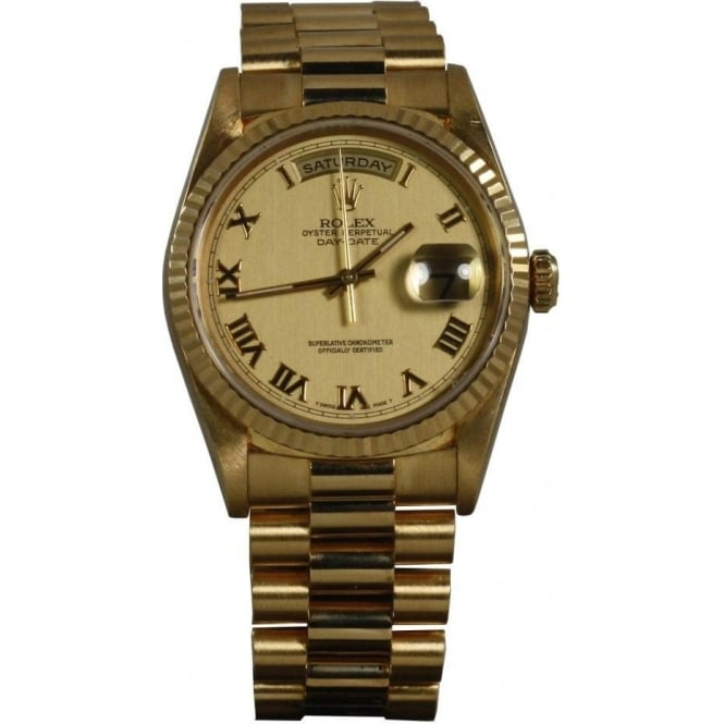 Pre-Owned Rolex Mens 18ct Yellow Gold Day-Date - 6691