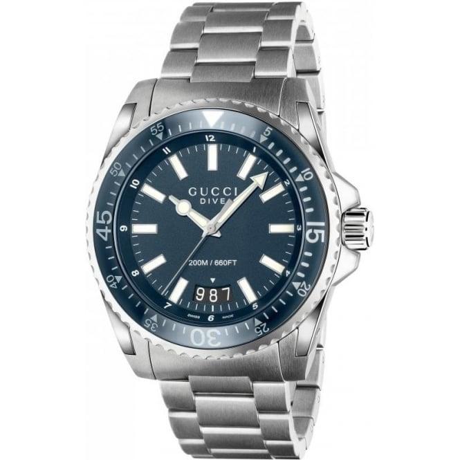 0a7126064 GUCCI Mens Dive Blue Dial Bracelet Watch YA136203