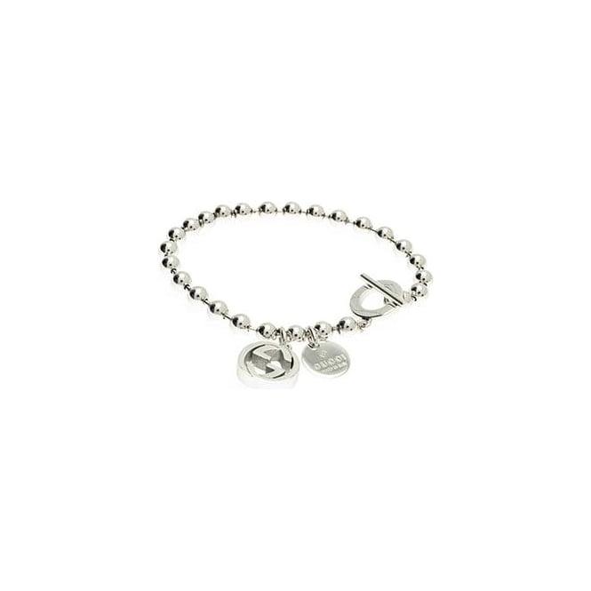 e829a1102 Gucci Jewellery Boule Sterling Silver Bracelet 16cm - Gucci ...