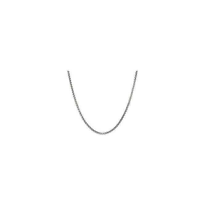 "Chamilia Box Chain Snap Necklace Oxidized (22""/55.9cm) - 1210-0023"