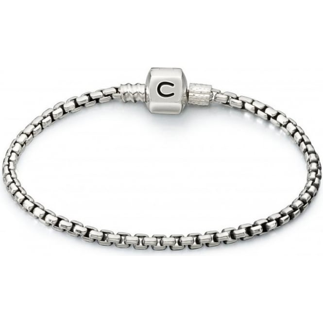 "Chamilia Box Chain Snap Bracelet Oxidized - 8.3""/21.1cm - 1012-0145"